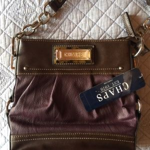 CHAPS NWT purple and brown purse
